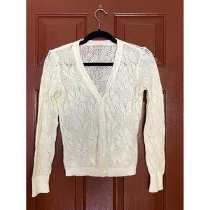 Cream Knit Cardigan. No size tag ! Fits Medium